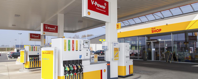 Shell Station Salzweg - Zapfsäulen